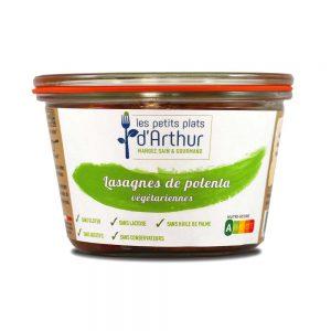 Lasagnes de polenta végétariennes sans gluten, sans lactose, sans additifs, sans conservateurs et sans huile de palme.