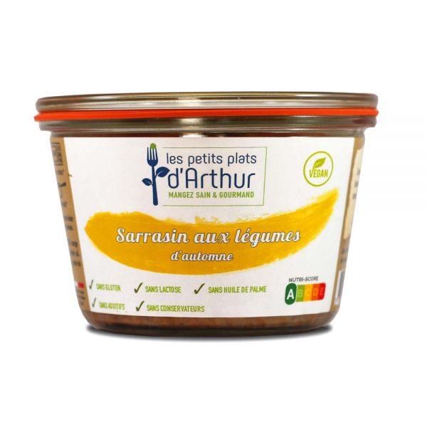 Sarrasin aux légumes d'automne sans gluten, sans lactose, sans additifs, sans conservateurs et sans huile de palme.