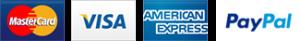 Paiement par Stripe & Paypal : VISA, MasterCard, et American Express