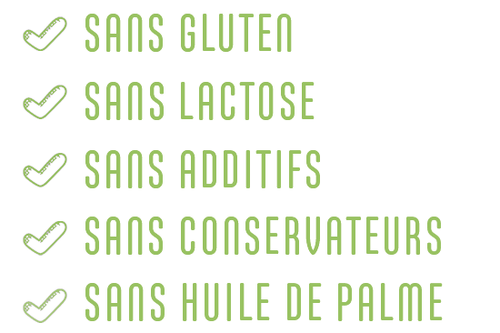 Plats cuisinés sans lactose, ni gluten, additifs