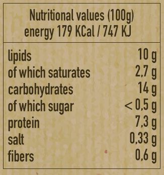 Nutritional values of risotto : sugar is very low