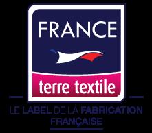 Ceci est le logo du label France, Terre, Textile.