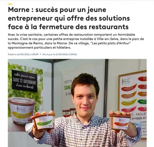 Les Petits Plats d'Arthur pour France 3 Champagne-Ardenne 1