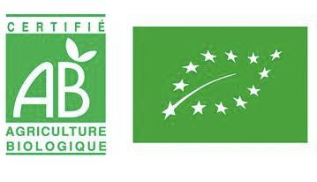 Logo du label AB créé en 1993 par le Ministère de l'Agriculture.