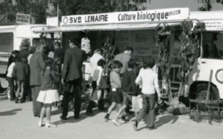 """The """"Organic Agriculture"""" stand at the 1970 Agricultural Show."""