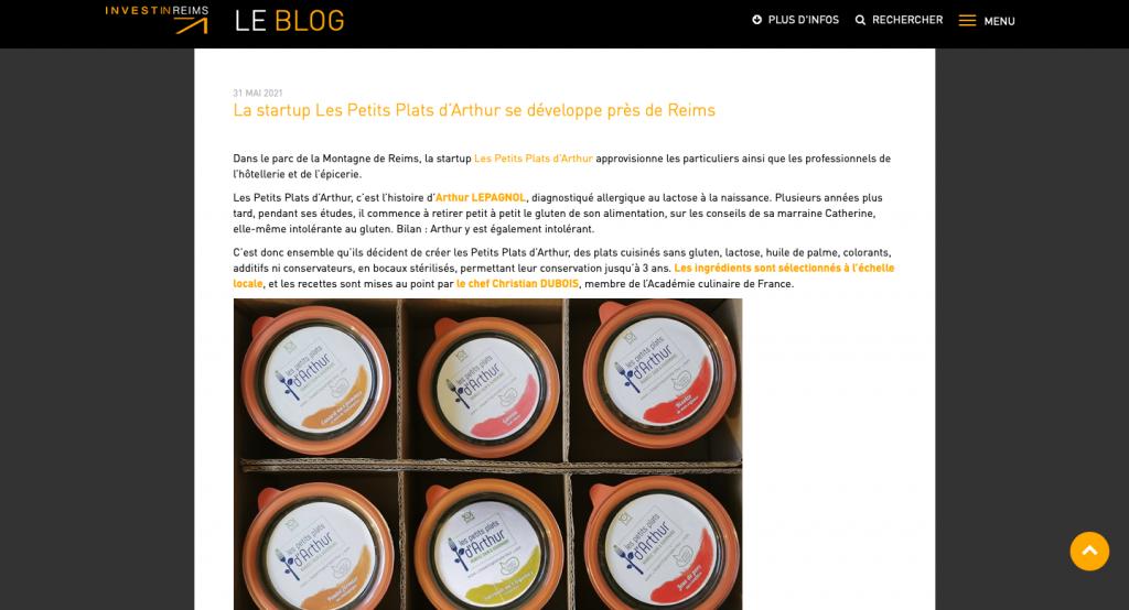 Article PPA sur le blog d'Invest In Reims